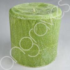 Lemon Grass Scented Large Pillar Candle Home Decor 50 Hours Burning Time
