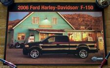 """NEW 2006 FORD F150 HARLEY DAVIDSON PICKUP 24"""" x 16"""" DEALER POSTER! FORD ISSUED!"""