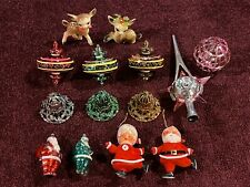 New ListingLot Vintage Christmas Ornaments Tree Topper Reindeer Figures Santa Mrs Claus