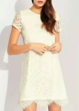 #8# LIPSY CREAM ALL OVER LACE SHIFT DRESS Size 12 RRP £48