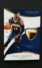 PAUL GEORGE 2014-15 PANINI IMMACULATE ACETATE JERSEY NUMBERS PRIME PATCH #11/13!