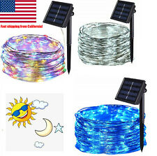 100LED Solar Powered Rope Fairy Patio String Lights Copper Wire Outdoor Garden