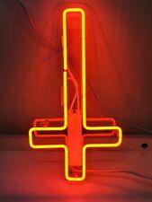 "14/""x9/""Jesus Saves Neon Sign Light Church Home Room Wall Hanging Visual Artwork"