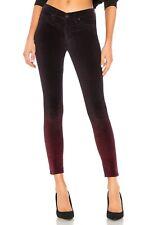 Hudson Purple Velvet Nico Midrise Ankle Super Skinny Jeans Pants 33 EUC