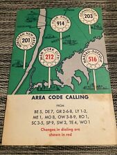 Area Code Calling brochure New York Telephone Company Vintage