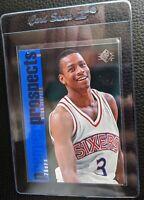 1996 UPPER DECK SP #141 ALLEN IVERSON ROOKIE CARD RC SIXERS HOF NM-MT+