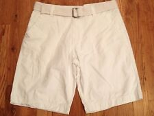 """NWT Red Snap White Shorts w/ Belt Mens size 36 x 11 1/2"""" INSEAM"""