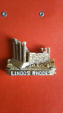 Greece resin  fridge magnet of  Lindos-Rhodes