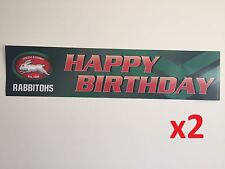 Official NRL South Sydney Rabbitohs Happy Birthday Banners Posters x2