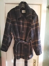 Women's Avenue Double Breasted Plaid Multi Color Winter Jacket Coat Plus Size 3X