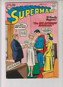 """Superman 120 VG+ (4.5) 3/58 """"The Day Superman Married!"""""""