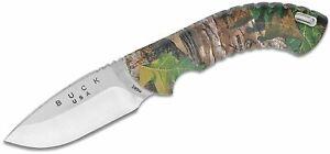 "Buck 390 Omni Hunter 10PT Fixed 3-1/4"" Blade, RealTree Xtra Green Camo Handles"