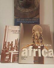 Tribal Exotics African Art book bundle (3) Epstein Mask Figure Sculpture Statue