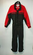 "Vintage Columbia Mens One Piece Ski Snow Outfit Red & Black Size M 1990""s"