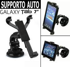 """SUPPORTO DA AUTO PER SAMSUNG GALAXY TAB A6 7"""" 2016 PARABREZZA CRUSCOTTO TAVOLO"""