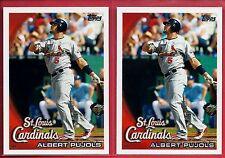 Albert Pujols Los Angeles Angels Lot (2) 2011 Topps #60YOT-59 Great Cards