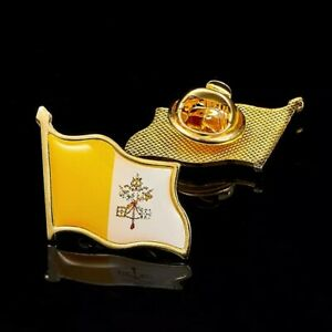 New Statement Religious Catholic Vatican City State Lapel Gold Plated pin badge