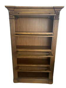 Barrister's Bookcase With Beveled Glass Doors