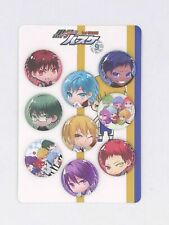 9pcs Anime Kuroko No Basket Badge Brooch Pin Button 3.2CM #2