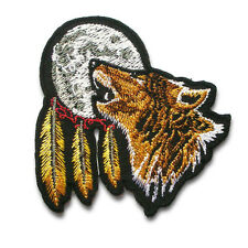 Indian Lone Wolf Full Moon Dream Catcher Navajo Patch Harley Biker Motorcycle