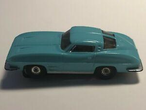 "Vintage Aurora '63 Corvette ""Sting Ray"" #1356 ""TURQUOISE"" HO Slot Car"