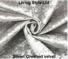 Spanish Upholster  Ottoman in Crush Velvet Fabric Diamond,in Black,Silver,Cream