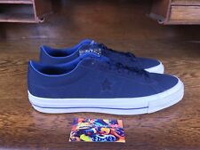 Converse One Star Mens Low Top Casual Navy/White Shoe 153708C Sz 12 w Lunarlon