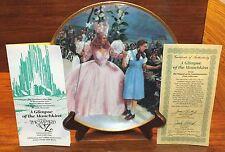 A Glimpse of the Munchkins Wizard of Oz 1939 23K Rim Hamilton Collector Plate!