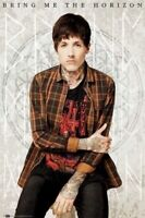 BRING ME THE HORIZON ~ OLIVER SYKES PLAID 24x36 MUSIC POSTER NEW/ROLLED!