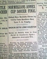 1930 FIFA WORLD CUP SOCCER Very 1st Championship Tournament Old NYC Newspaper