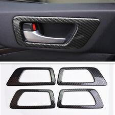 Carbon Fiber Inner Door Handle Frame Cover Trim For Toyota Highlander 2015-2018