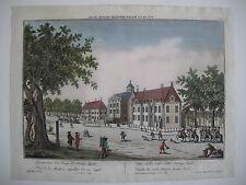 Vue d'optique Guckkastenblatt Den Haag Oranje Zaal kolor Kupferstich 1750