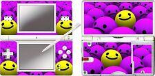 nintendo DS Lite - SMILEY FACES - 4 Piece Decal / Sticker Skin vinyl