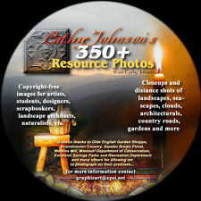 Cathy Johnson's  Artists' 350+ Miscellaneous Photo Resource CD--NEW!