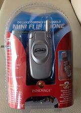 Innovage Deluxe Mini Corded Home Flip Phone with Caller ID & Headset Silver, LCD