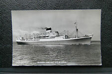 City Of Exeter, Ellerman Lines T.S.M.V- Vintage RP WW2 II Warship Navy Postcard.