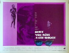 ONCE YOU KISS A STRANGER half sheet movie poster 22x28 CAROL LYNLEY 1970 MINT