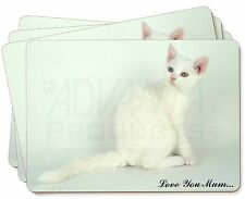 White Cat 'Love You Mum' Picture Placemats in Gift Box, AC-86lymP