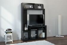 Birlea Orka Black Gloss Living Room Cupboard TV Entertainment Wall Unit Stand