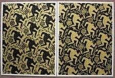Pattern of Corruption black/gold prints set by Shepard Fairey signed & numbered