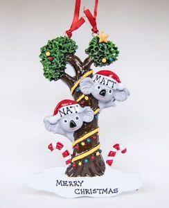Personalised Christmas Tree Ornaments/Decoration - Koala's 2-6