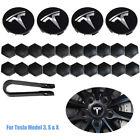 Tesla Model 3 S X Y Car Wheel Center Hub Cap Cover and Lug Nut Covers Kit 25PCS