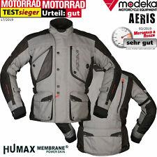 MODEKA Motorradjacke AERIS grau schwarz wasserdicht Humax Thermofutter Gr. L