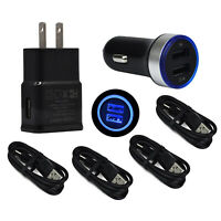 For Samsung Galaxy Note 9 8 S8 S9 S10 Plus Cell Phone Home Wall Car Charger Cord