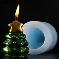 Christmas Tree Silicone Candle Soap Moulds Cutter DIY Making Tools Chocolate
