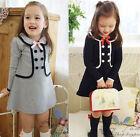 Kid child Girls Cute Sweet Clothing Princess Long Sleeve Tutu Dress Skirt Sz2-7Y