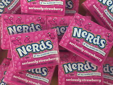Wonka Nerds Mini Boxes Strawberry 1 Pound ALL PINK Bulk Candy 31 pcs