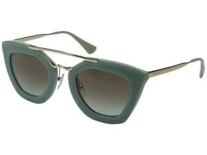 Prada CINEMA Sunglasses PR09QS TKQ-4K1 49 Green Gold Gradient Aviator Women