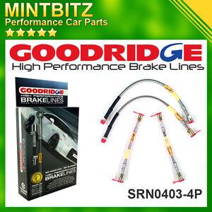 Clio Sport 172/182/182 Cup/Twingo GT 01-on Zinc Plated Goodridge Brake Hoses