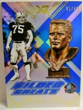 HOWIE LONG GILDED GREATS HALL OF FAME #1 01/49 PANINI XR FOOTBALL 2017
